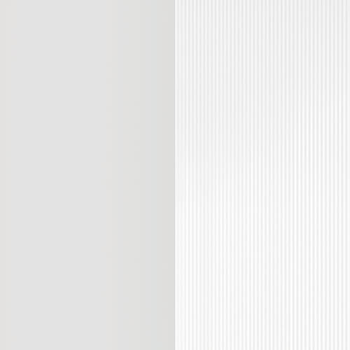 White + Clear Ribbed